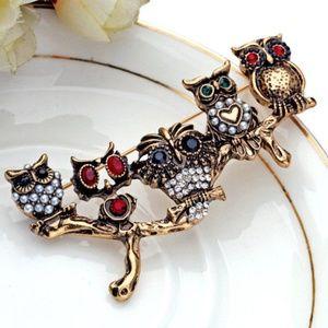 Jewelry - Owl Bar Brooch